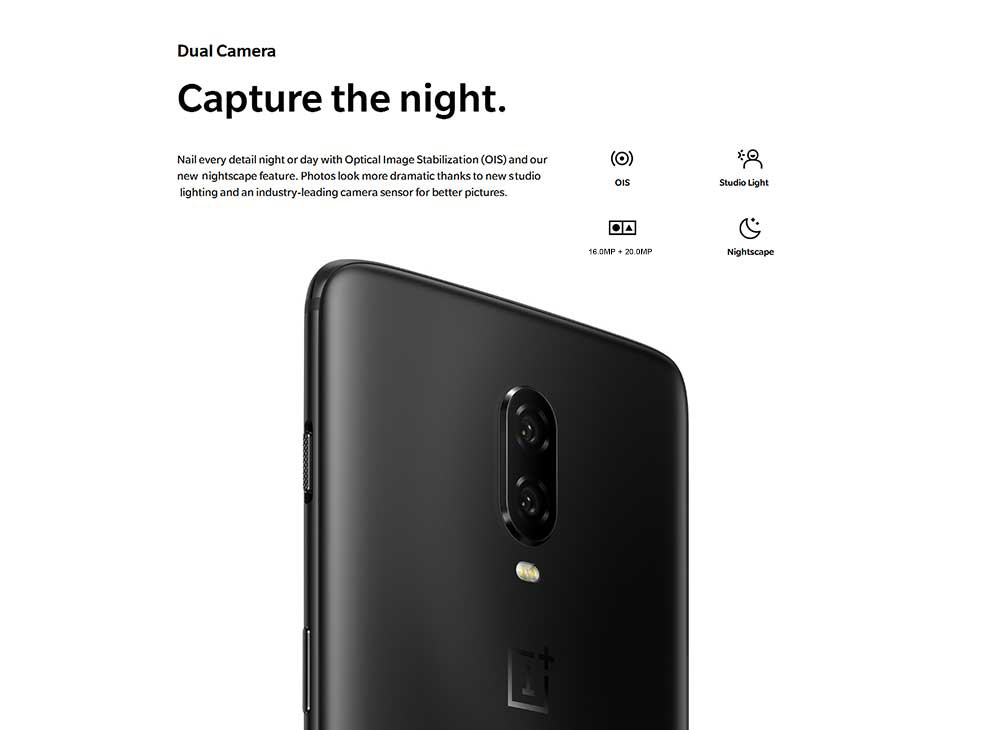 OnePlus 6T 4G Phablet 6.41 inch Oxygen OS ( Android Pie ) Qualcomm Snapdragon 845 Octa Core 2.8GHz 8GB RAM 128GB ROM 16.0MP + 20.0MP AI Rear Camera Fingerprint Sensor 3700mAh Built-in- Midnight Black