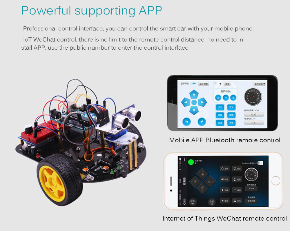 Yahboom Diy Stem Education Smart Robot Car 2 In 1 Toy For Arduino Geeky Circuit Board