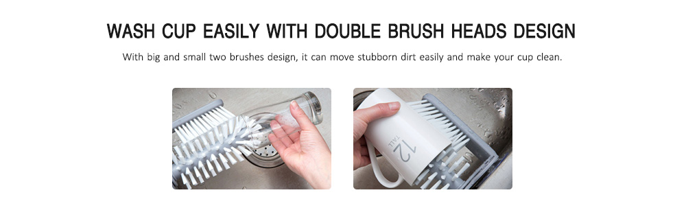 Creative Suction Wall Household Cleaning Brush- Gray