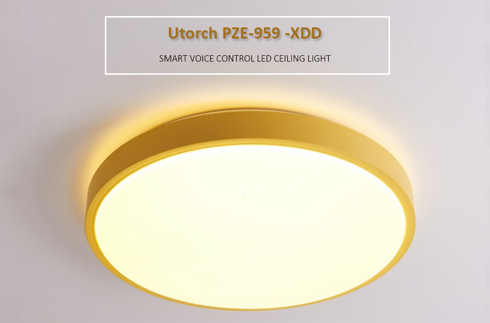 Utorch PZE - 959 - XDD Intelligent Voice Control LED Ceiling Light with WiFi Smart APP Function- Silk Blue