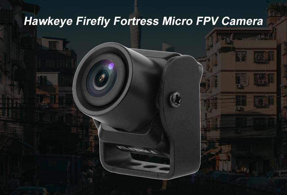 Hawkeye Firefly Fortress 1/3 960H TVL Micro FPV Camera for RC Drone DIY- Black