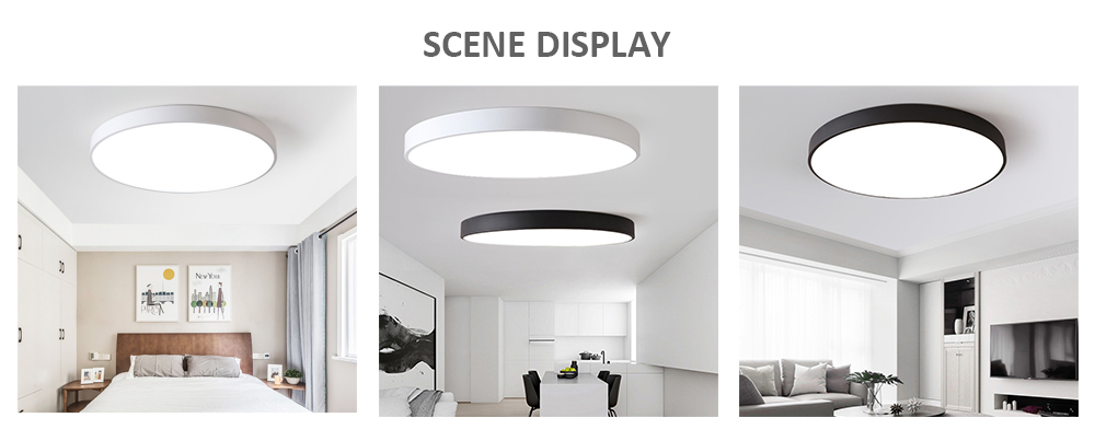 PZE - 911 - XDD Modern Round LED Ceiling Light for Living Room Restaurant- White 60W White light