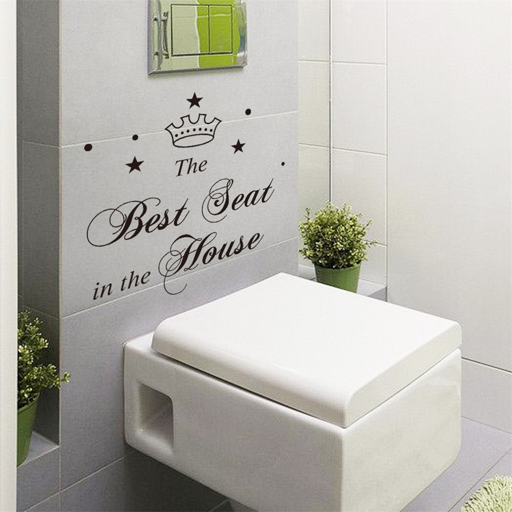 Toilet Sticker Bathroom Wall Stickers Home Decoration Light Switch Wall  Decals