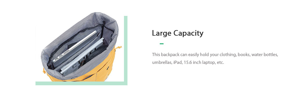 Xiaomi youpin Energy College Casual Backpack - Goldenrod