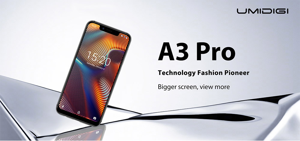 UMIDIGI A3 Pro 4G Phablet 5.7 inch Android 8.1 MT6739 Quad Core 1.5GHz 3GB RAM 32GB ROM 8.0MP Front Camera 12MP + 5MP Dual Rear Camera 3300mAh Battery- Gray