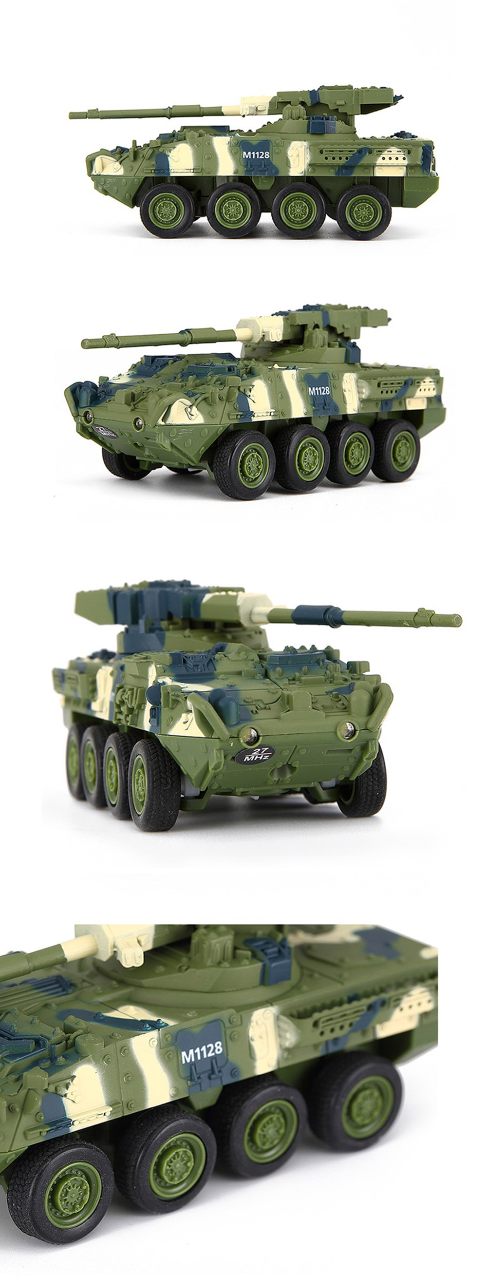 280abd1f0629ae 8020 RC Tank Military Model Toy Gift for Kids- Blanched Almond 8021