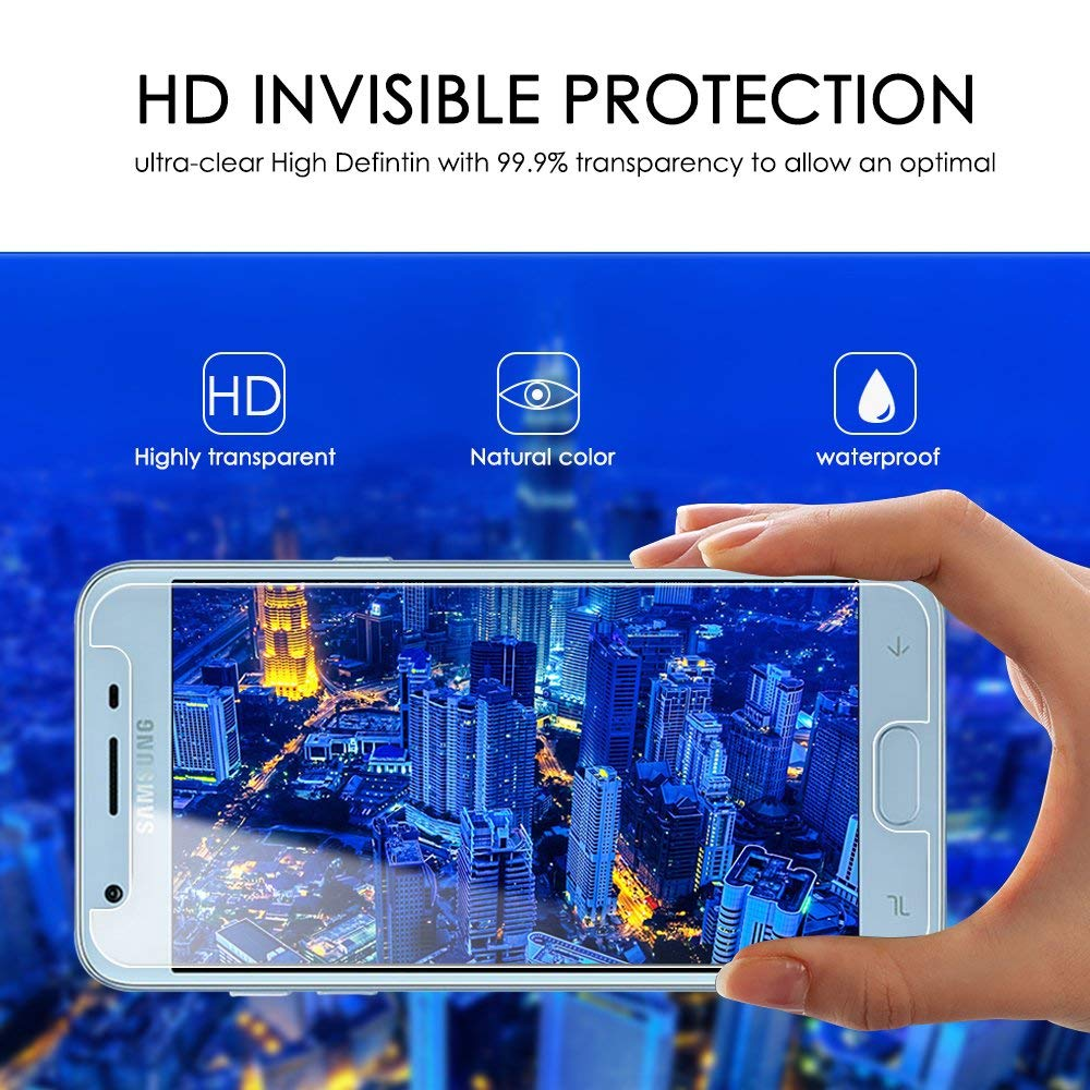 Screen Protector Protection Film HD Tempered Glass for Samsung Galaxy J3  2018