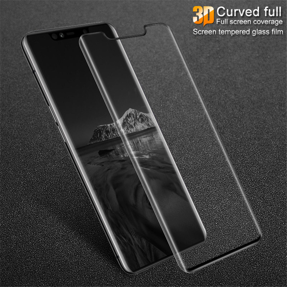 9H 0.26mm 3D Curved Full Screen Tempered Glass for Huawei Mate 20 Pro- Transparent