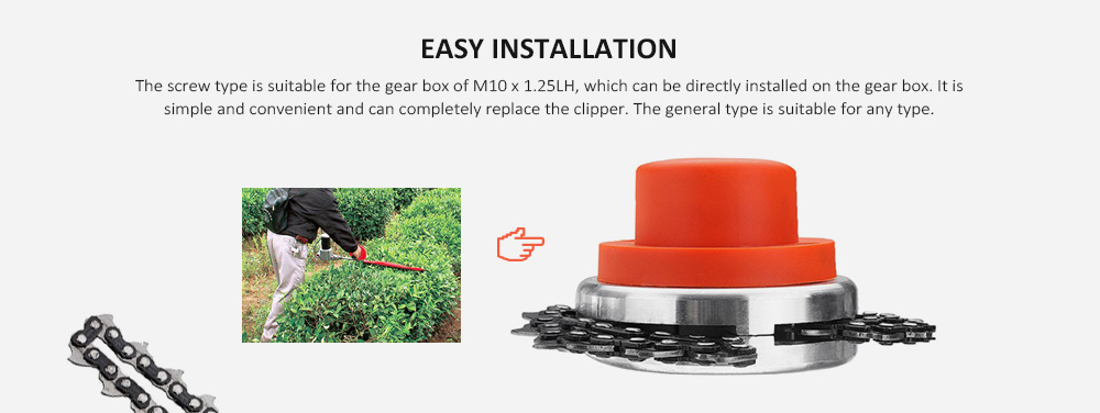 Multi-function Durable Chain Grass Lawn Mower- Red Thread
