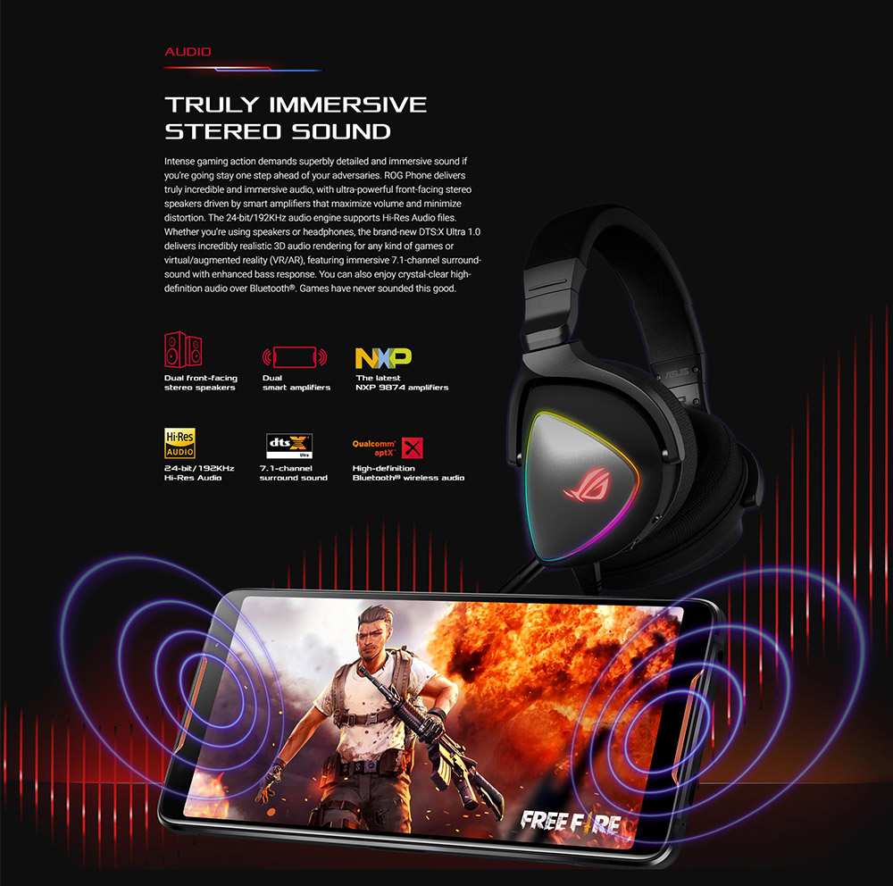ASUS ROG Phone 4G Gaming Phone 6.0 inch Android Oreo 8.1 Snapdragon 845 Octa Core 2.96