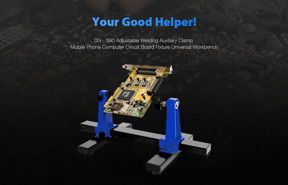 SN - 390 Adjustable Welding Auxiliary Clamp Mobile Phone Computer Circuit  Board Fixture Workbench