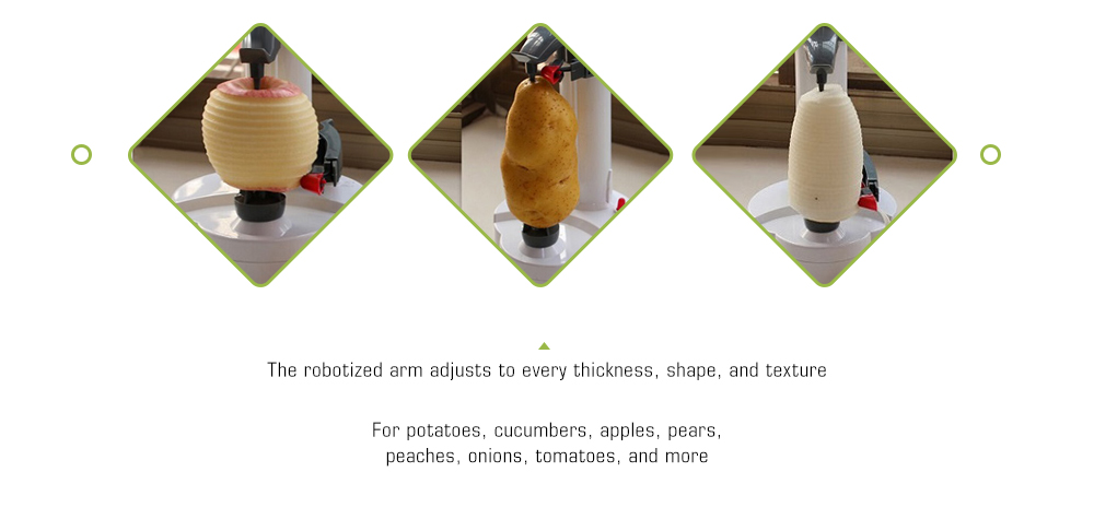 Multifunctional Fully Fruit Automatic Electric Peeler- White