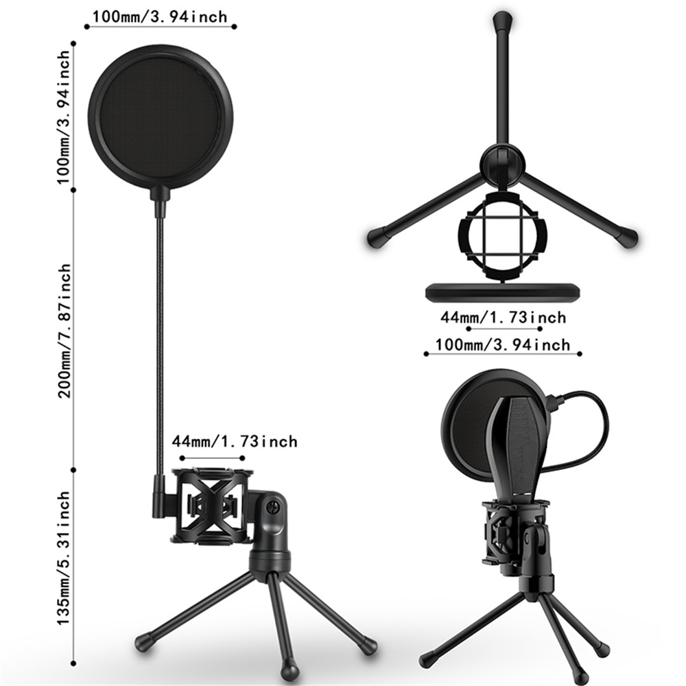 Yanmai microphone accessories PS-2 patented custom microphone stand with pop fil