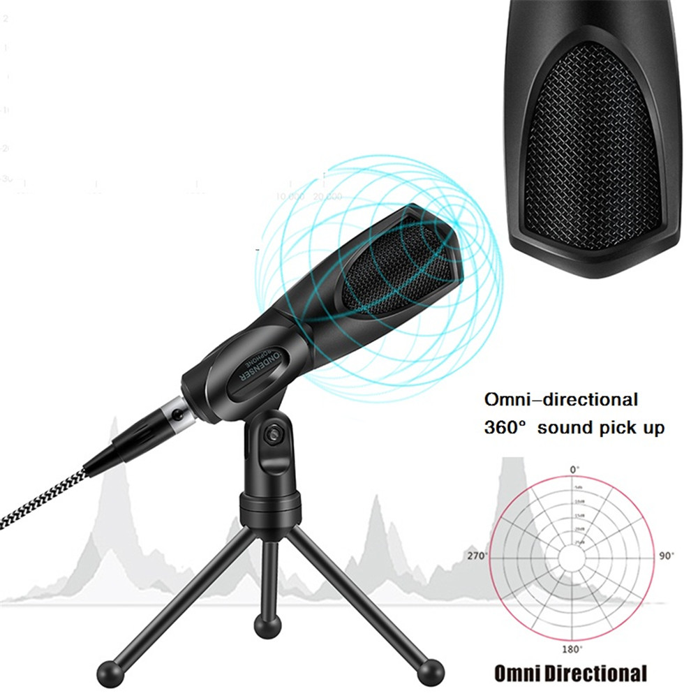 Yanmai Q3B newest design usb microphone studio condenser microphone gaming micro- Jet Black