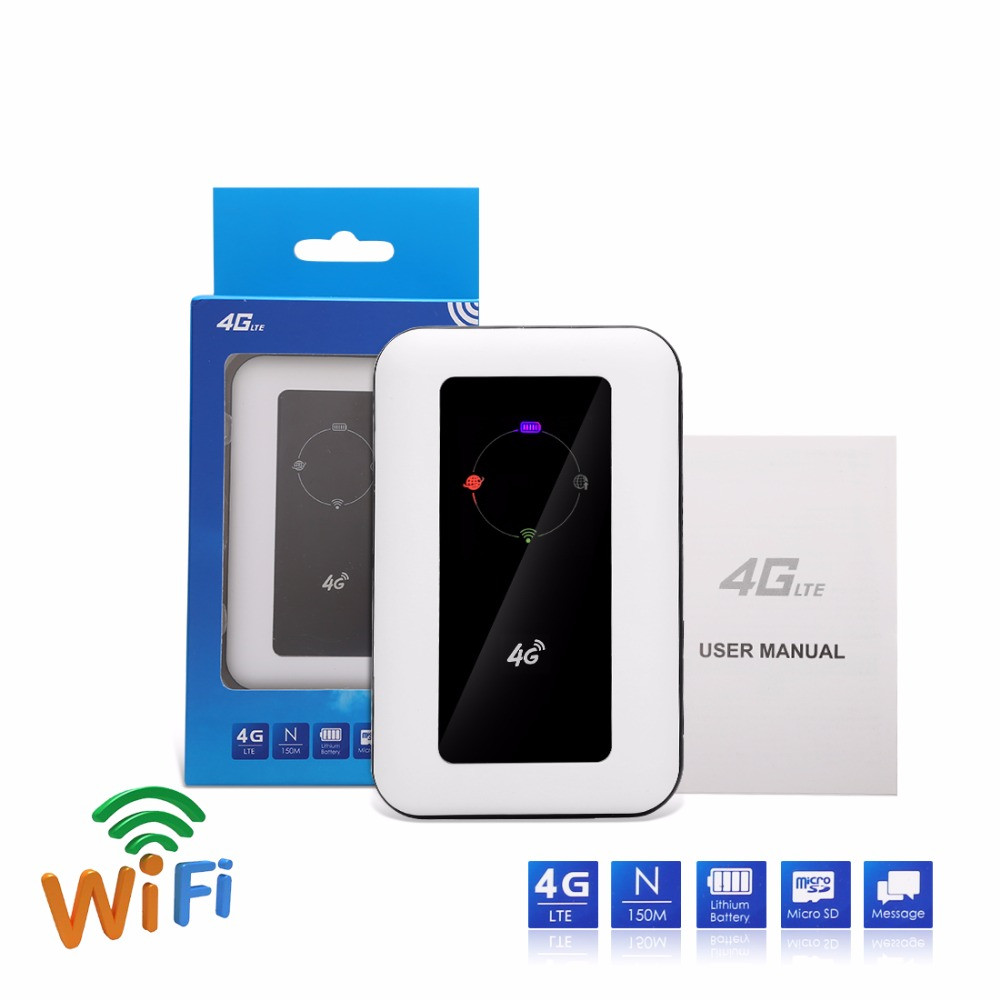 150Mbps Outdoor 4G Pocket WiFi Router With 2400mAh Battery Sim Card Slot