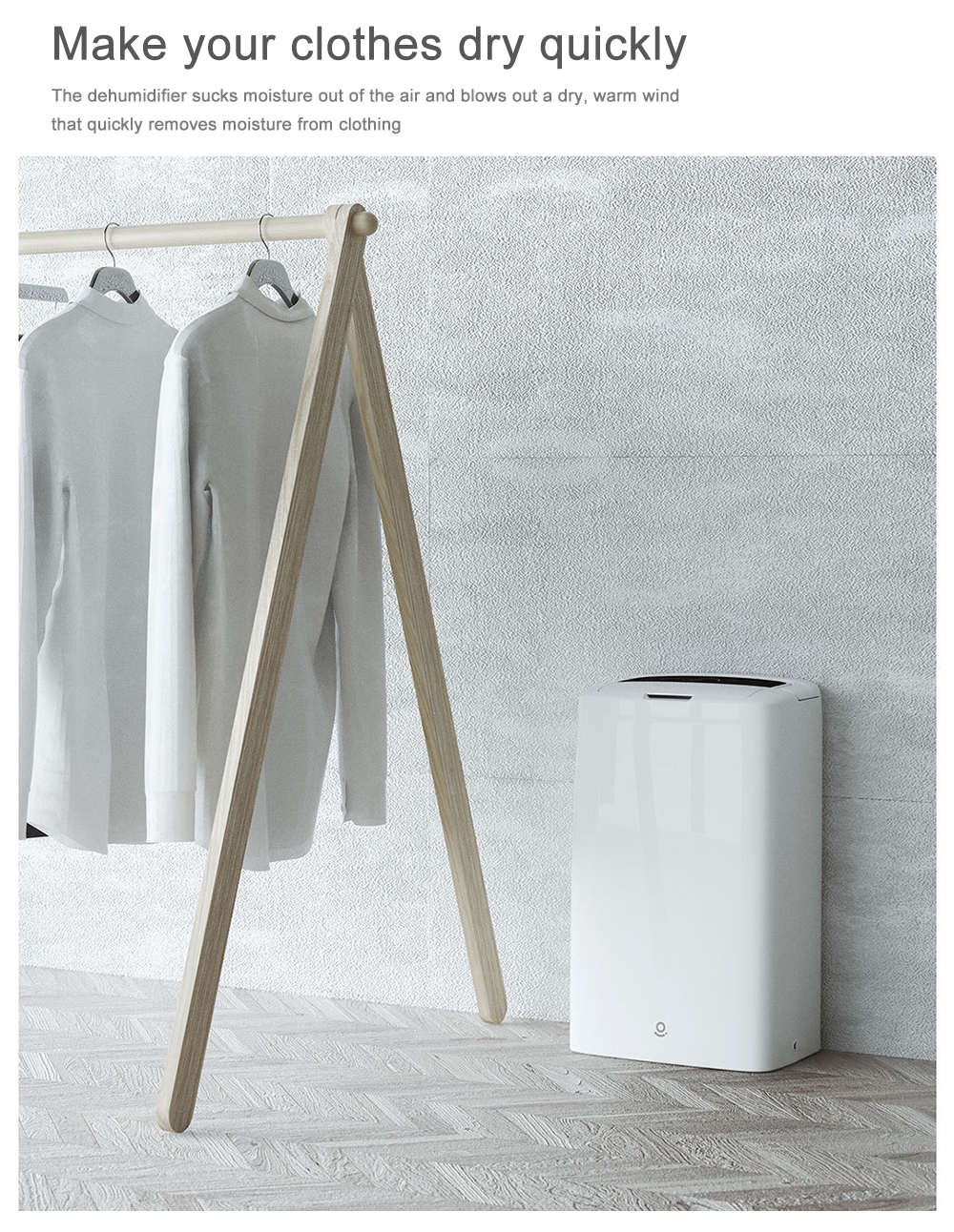 WS1 Efficient Intelligent Humidity Control Dehumidifier from Xiaomi Youpin- White