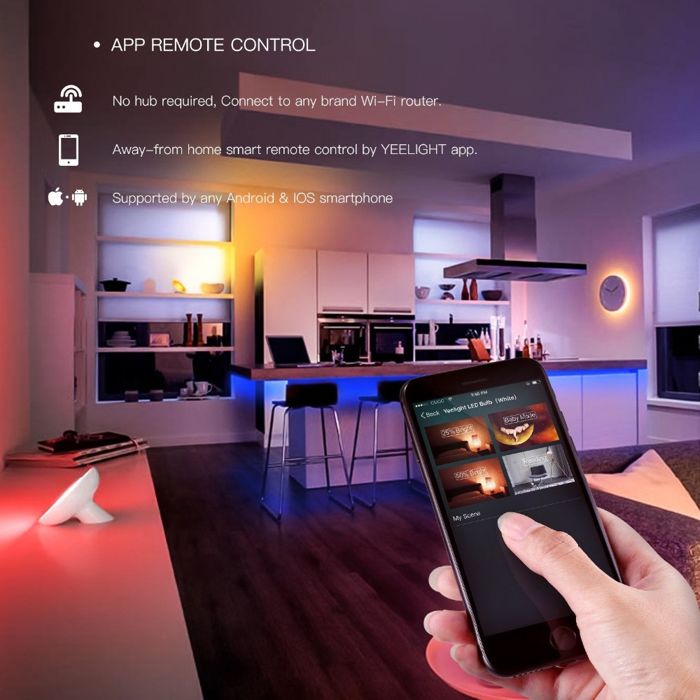 Smart Home WiFi APP Remote Control LED Strip Extension Light for Xiaomi Yeelight- White