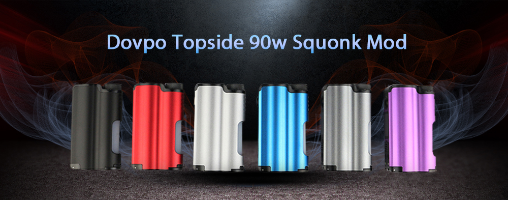 Dovpo Topside 90W Squonk Mod Supporting 1pc 21700 / 18650 Battery - Red