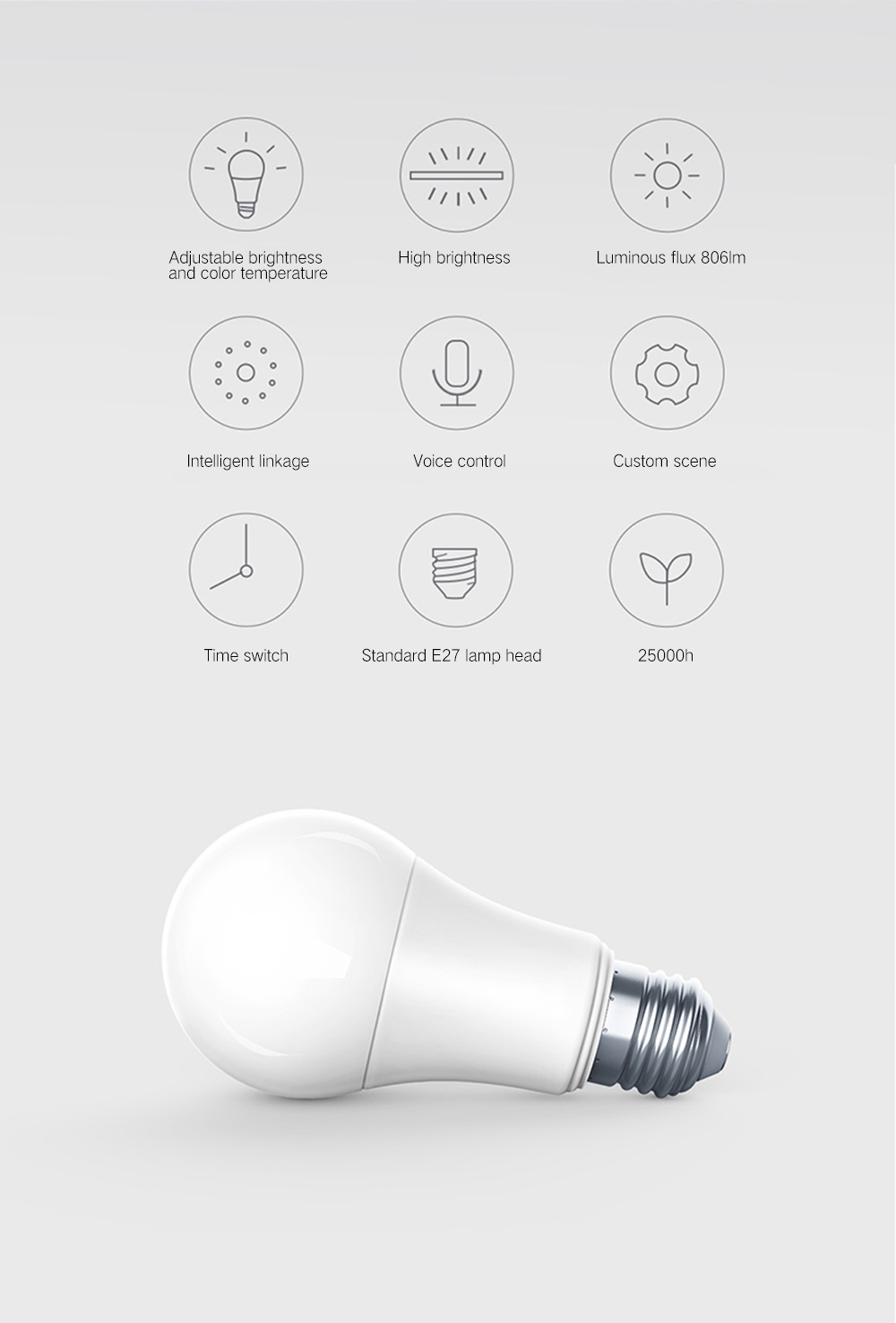 Xiaomi Mijia ZNLDP12LM Smart Bulb for Home- White