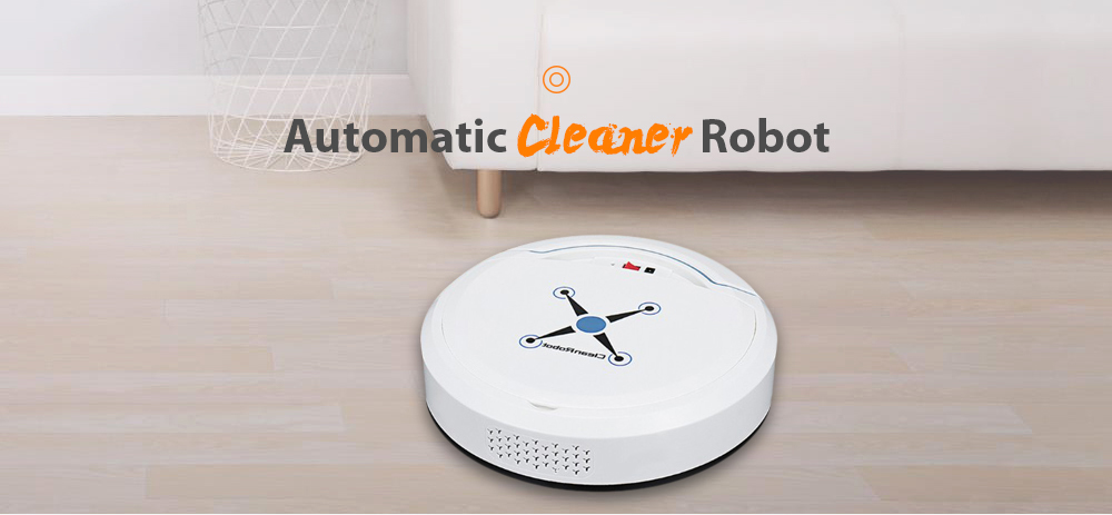 Home Smart Ultra-thin Small Charging Sweeping Robot Automatic Mopping Machine Cleaning Vacuum Cleaner- Black