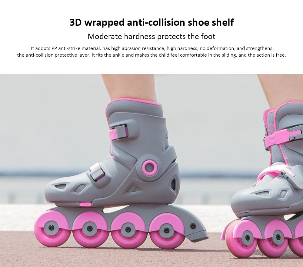 Pair of Intelligent Roller Skates from Xiaomi youpin- Yellow S