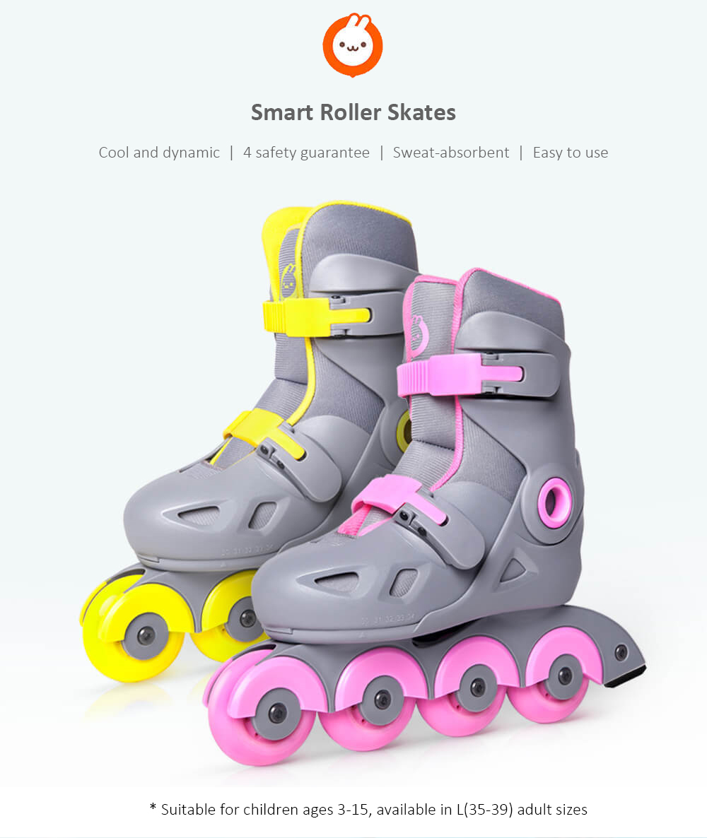 Parell de patins de patins intel·ligents de Xiaomi youpin-Yellow S