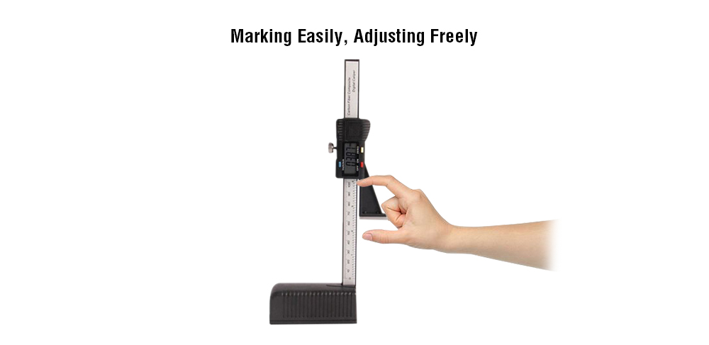 Electronic Digital Height Gauge Woodworking Table Marking Ruler 0 - 150mm with Magnetic Base- Black