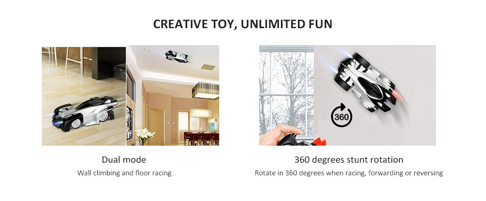Intelligent Remote Control Wall Climbing Drift Electric Car Model Toy- Black