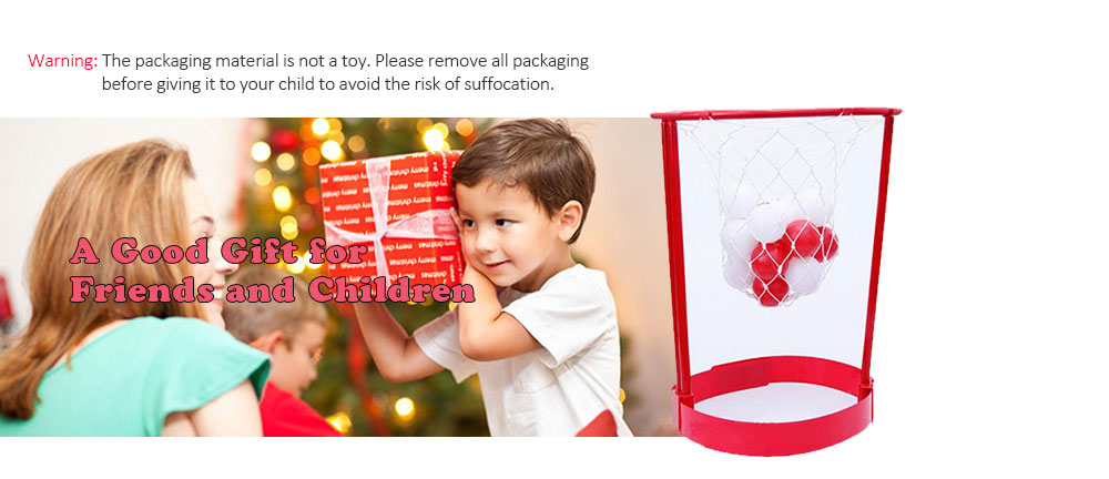 Creative Head Basketball Game Leisure Office Treatment Cervical Spine Toy- Valentine Red