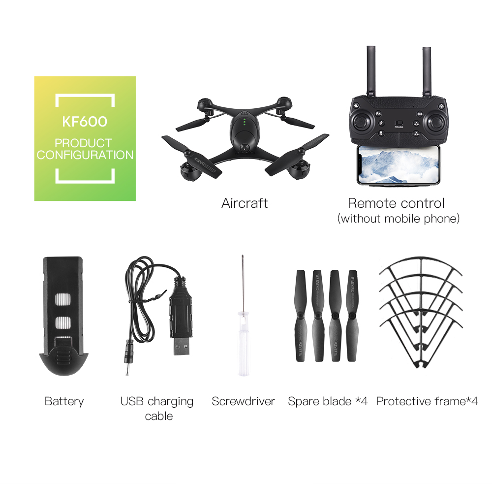 Kf600 720p Wifi Fpv Rc Drone Optical Flow G Sensor Control Waypoint Schematics Depot Audio Sound Detector Latch Rtf Gesture