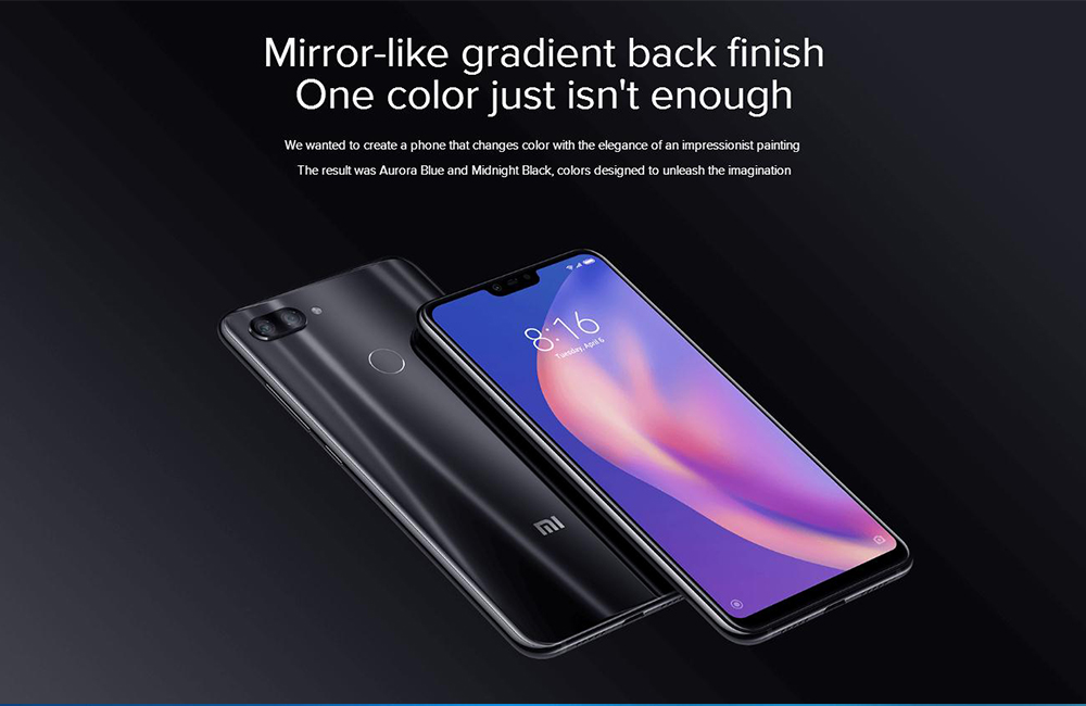 Xiaomi Mi 8 Lite 4GB/64GB (Global Version) Black or Blue for $164 99
