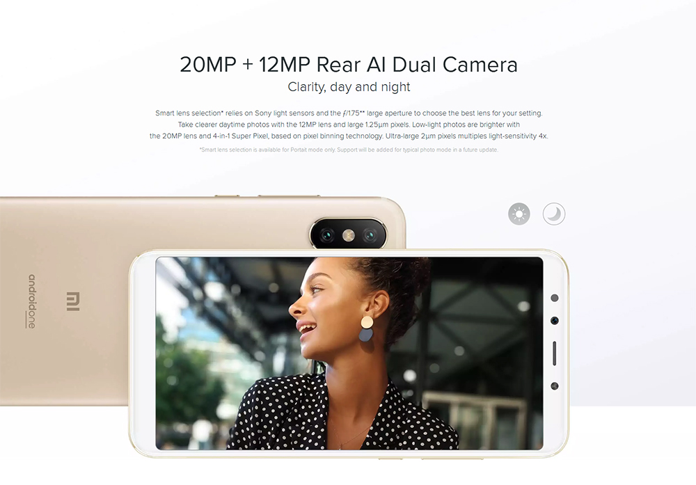 Xiaomi Mi A2 4G Phablet 5.99 inch Android 8.1 Snapdragon 660 Octa Core 2.2GHz 4GB RAM 64GB ROM 12.0MP + 20.0MP Rear Camera Fingerprint Sensor 3010mAh Li-ion Battery- Gold
