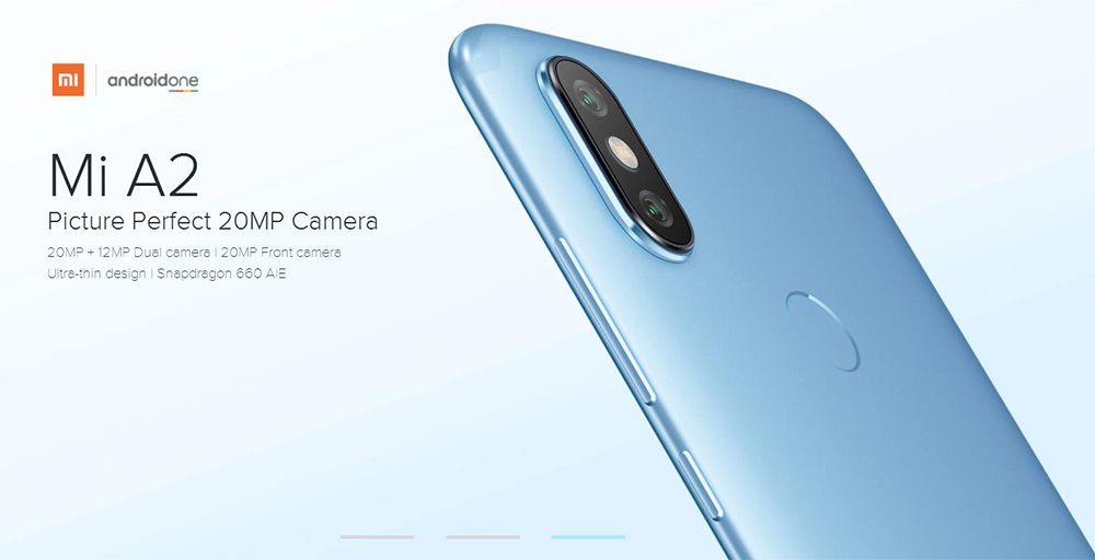 Xiaomi Mi A2 4G Phablet 5.99 inch Android 8.1 Snapdragon 660 Octa Core 2.2GHz 4GB RAM 64GB ROM 12.0MP + 20.0MP Rear Camera Fingerprint Sensor 3010mAh Li-ion Battery-Gold