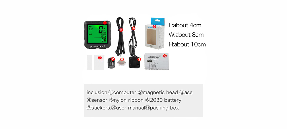 INBIKE Bicycle Code Table E-commerce English Cable Speedometer