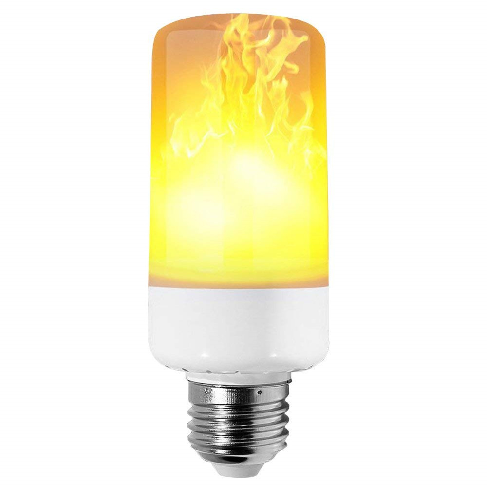 Led Flame Effect.4 Modes Led Flame Effect Simulated Nature Fire Light Bulb E27 3w Decoration Lamp
