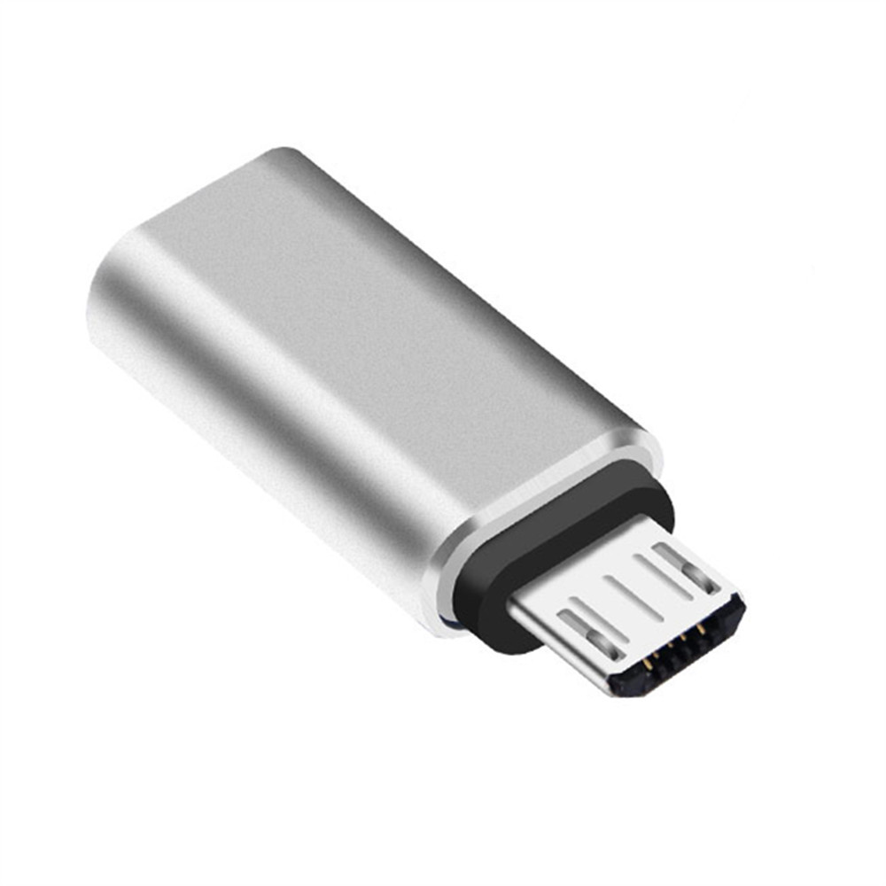 Micro USB Convert Connector Silver USB Type C Adapter Cable USB C to USB A