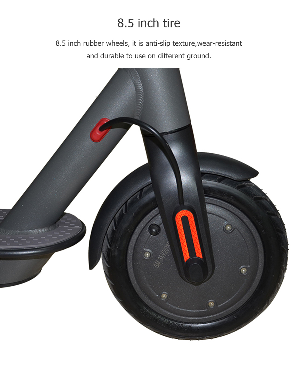 H - 8501 Two-wheel Electric Scooter with 7.5Ah Battery- Battleship Gray Regular