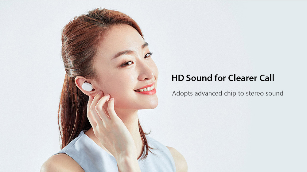 Xiaomi Mi AirDots TWS Bluetooth Earphones Wireless In-ear Earbuds with Mic and Charging Dock Youth Edition- White