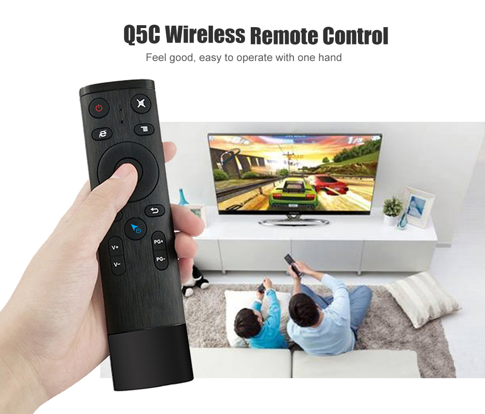 Q5C Voice Mouse Remote Control- Black