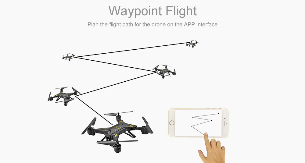 KY601S Drone App Connect Waypoint Flight