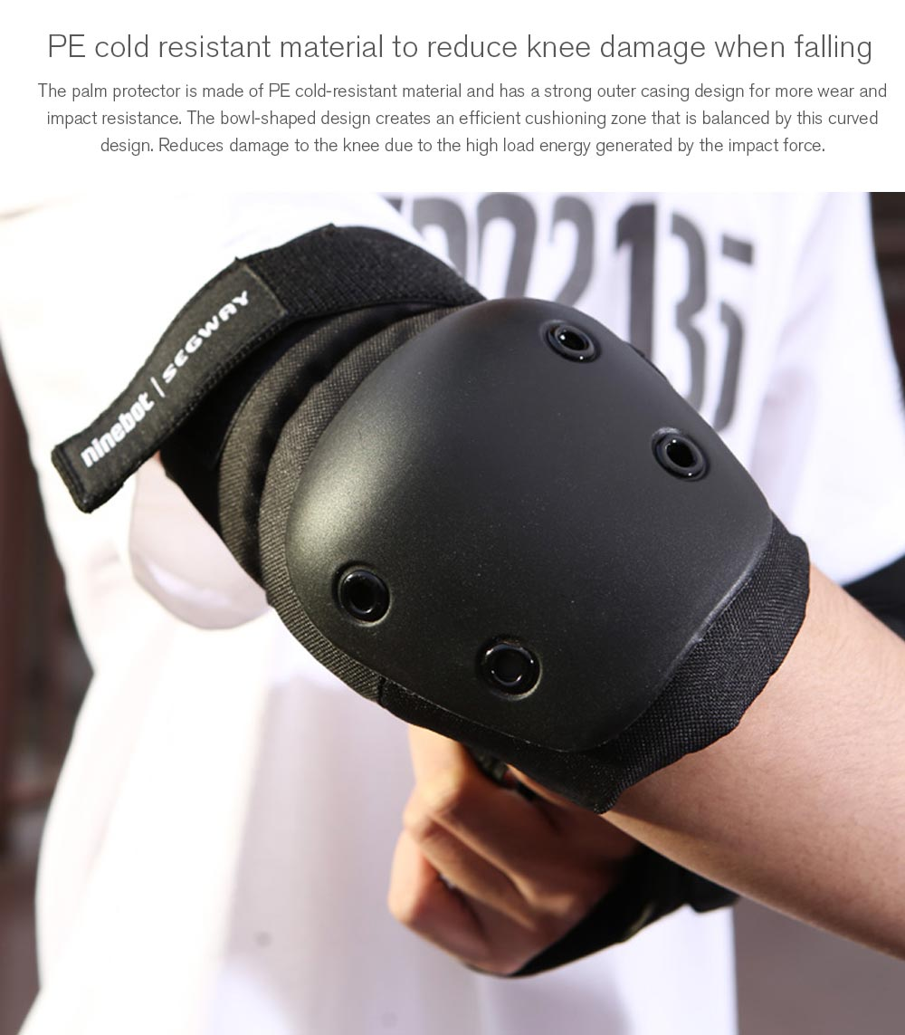 Ninebot Helmet Knee Pad Wrist Guard Elbow Protector Roller Protection Set from Xiaomi mijia - Black M