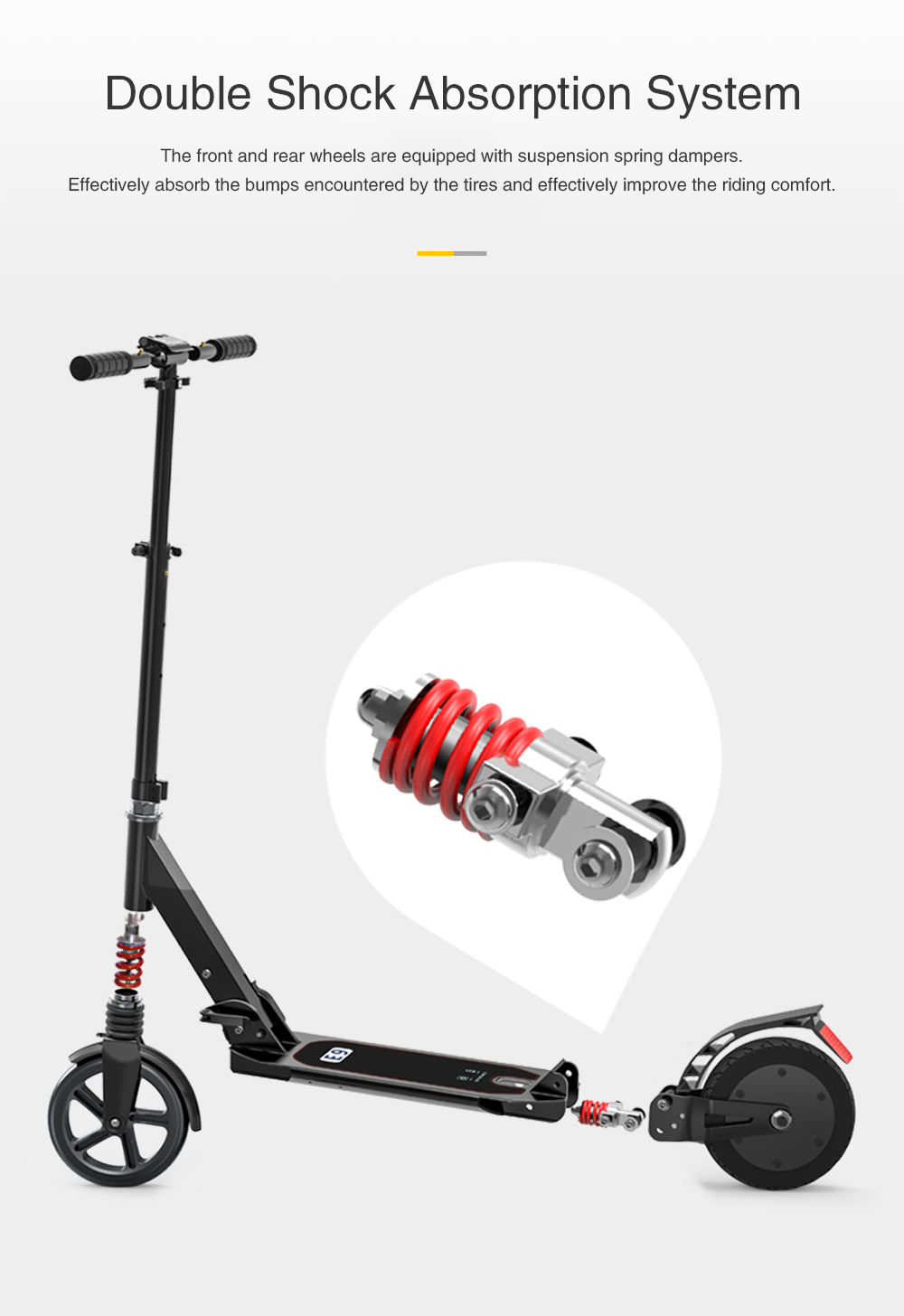 Icewheel E9S Dy rrota Shockproof Scooter Electric Scooter 2.6Ah Battery-Zi