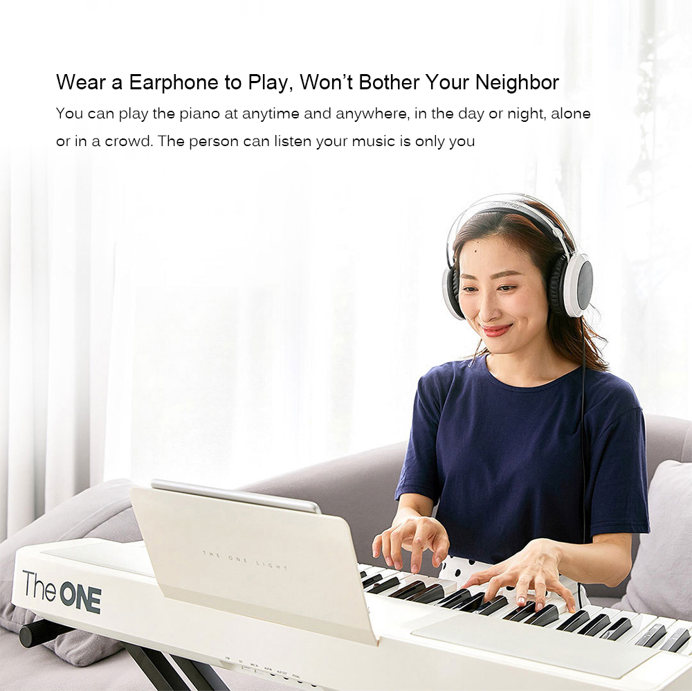TheONE TOK1 Smart Electronic Organ from Xiaomi Youpin Beginner Music Instrument- White