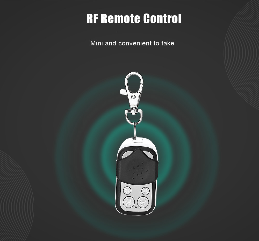 SONOFF Wireless 4 Buttons Push Cover 433MHz Remote Controller - Black