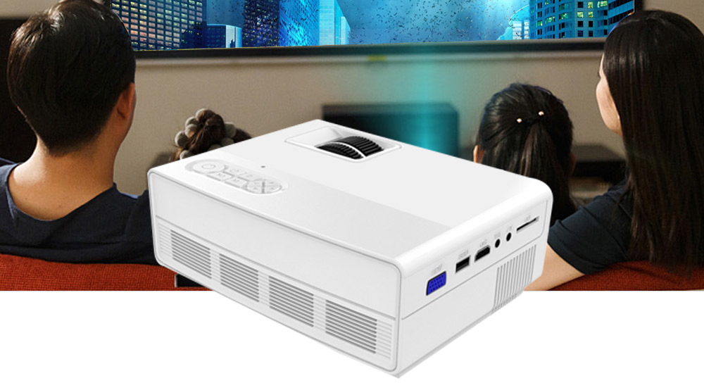 BP - M450 LCD Home Theater Projector 800 x 480P Support 1080P Interface HDMI / USB / AV / VGA- Black AU Plug