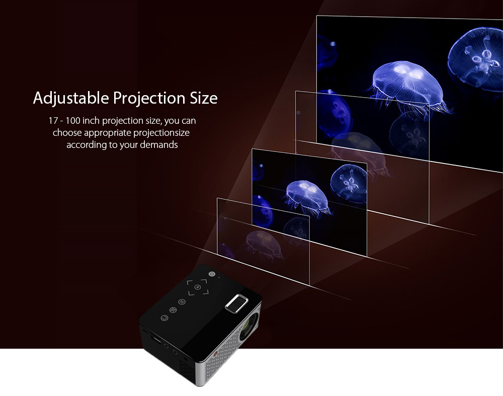 T200 LCD Home Theater Projector 320 x 240P USB / TF / HDMI / AV- Black EU Plug