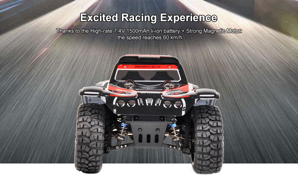 WLtoys 124012 1/12 4WD 60km/h Fast Racing RC Car 2.4G Independent Absorber Rubber Tire Off-road Crawler- Chestnut Red