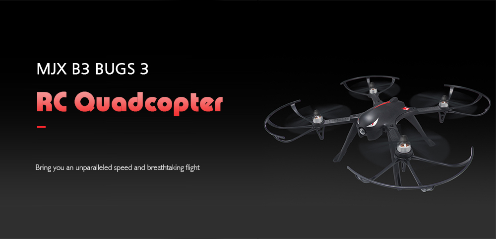 MJX B3 Bugs 3 RC Quadcopter Ready To Fly Black No camera