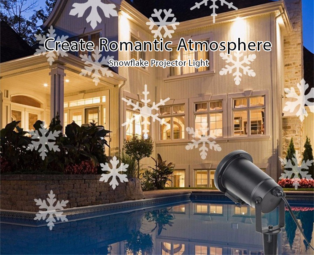 Christmas Projector.Outdoor Christmas Projector Stage Spotlight Garden House Landscape Fairy Snowflake Effect Light Decor