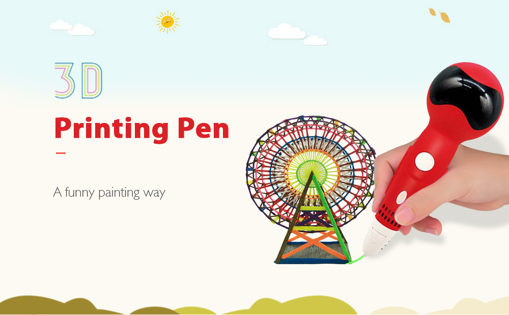 Robot Red Low Temperature Version 3D Printing Pen USB Interface Comes With  Voice Playback Function Children Graffiti Painting Robotpen